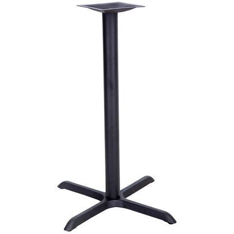 22'' x 30'' Restaurant Table X-Base with 3'' Bar Height Column XU-T2230-BAR-GG by Flash Furniture - Peazz.com