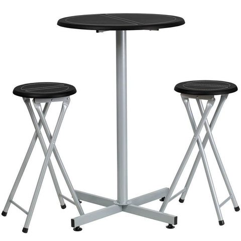Flash Furniture YB-YJ987-GG Bar Height Table and Stool Set - Peazz.com