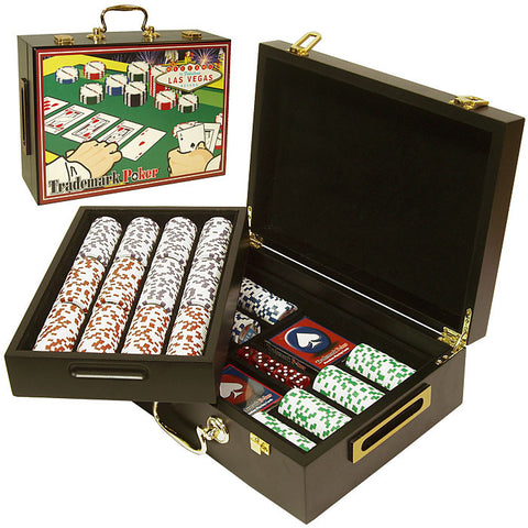 Trademark Commerce 10-1003-52001 500 Four Aces Chips In Deluxe Case - Peazz.com