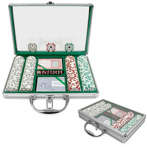 Trademark Commerce 10-0500-2002c 200 Chip 11.5G High Roller Set W/Clear Cover Aluminum Case - Peazz.com