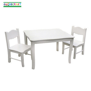 Guidecraft Classic White Table & Chairs Set - Peazz.com