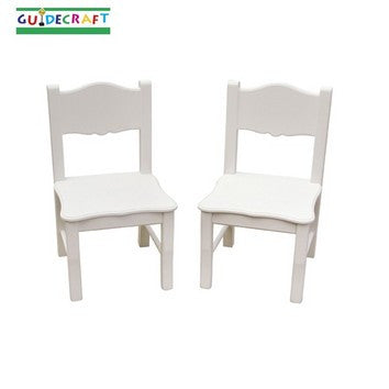 Guidecraft Classic White Extra Chairs Set of 2 - Peazz.com