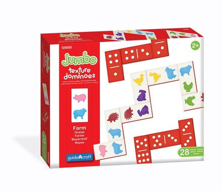 Jumbo Visual And Tactile Dominoes - G5055 - Toys Activity Toys Family And Fun Games G5055