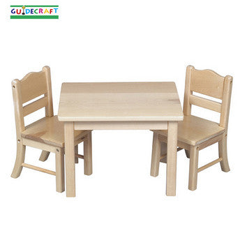 Guidecraft G98114 Doll Table And Chair Set - Natural - Peazz.com