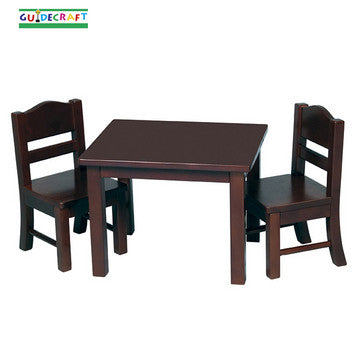 Guidecraft G98115 Doll Table And Chair Set - Espresso - Peazz.com