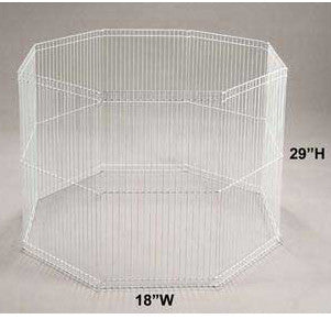 "8 - panel Wire Ferret Playpen 29""h X 18"" - Peazz.com"