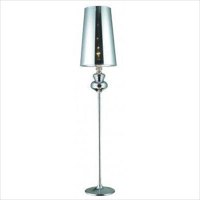 "Gen-Lite 103947C 70"" Chrome Floor Lamp with Chrome Shade - Peazz.com"