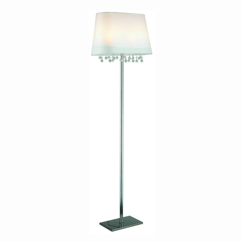 "Gen-Lite 104020 65"" Chrome Floor Lamp with Crystals & 2Light - Peazz.com"