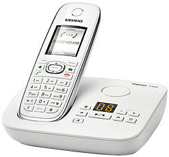 Siemens Gigaset C595 DECT 6.0 Cordless Phone w/ Digital Answering System - White GIGASET-C595 - Peazz.com