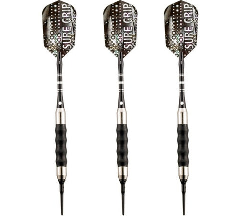 Viper Sure Grip Black Soft Tip Darts 18 Gram - Peazz.com