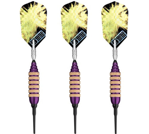 Viper Spinning Bee Purple Soft Tip Darts 16 Gram - Peazz.com