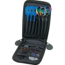 Casemaster 36-0909-01 Mini Pro Black Leather Dart Case