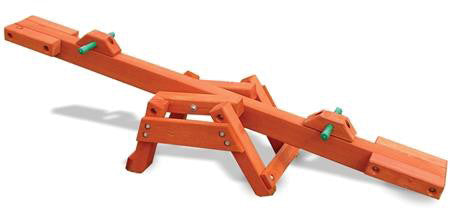 Gorilla Playsets 02-3002-Cedar See-Saw - Peazz.com