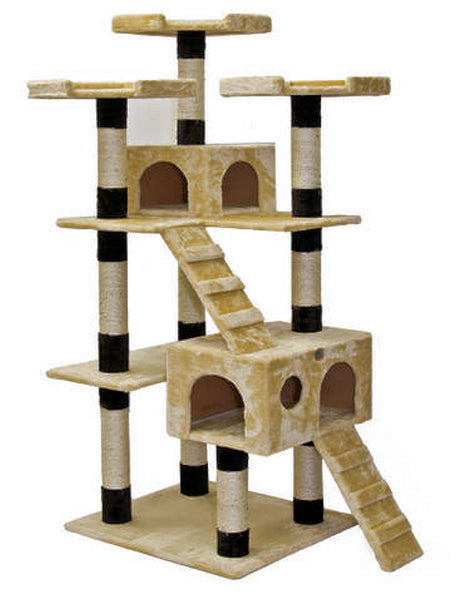 cat tree house gopetclub cat tree furniture beige black 72 quot f2084 29699