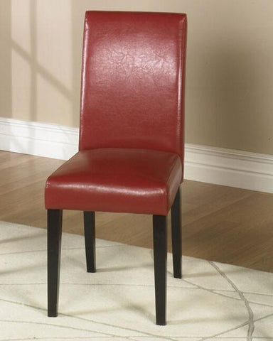 Red Leather Side Chair  2 Pack Md-014  by Armen Living - Peazz.com
