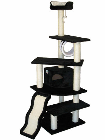 "GoPetClub Cat Tree Furniture Black 70"" (F72) - Peazz.com"