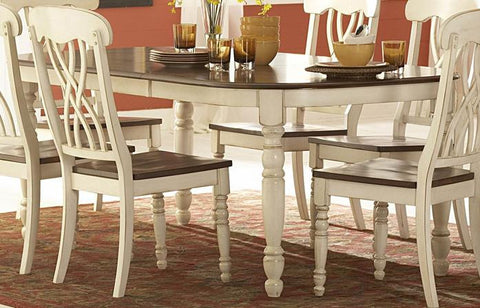 Homelegance Ohana Oval Dining Table in White - Peazz.com - 1