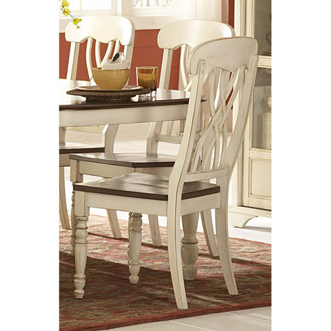 Homelegance Ohana Side Chair in White - Peazz.com - 1