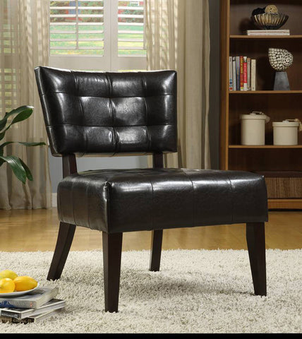 Homelegance 489DB Warner Accent Chair - Dark Brown - Homelegance - Peazz.com