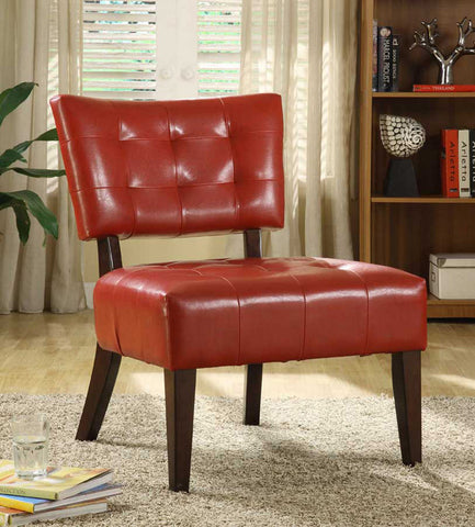 Homelegance 489RD Warner Accent Chair - Lava Red - Homelegance - Peazz.com