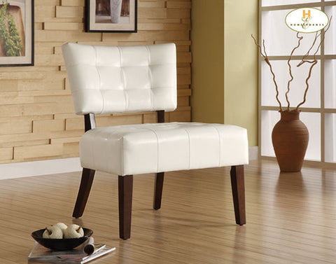Homelegance 489WT Warner Accent Chair - White - Homelegance - Peazz.com