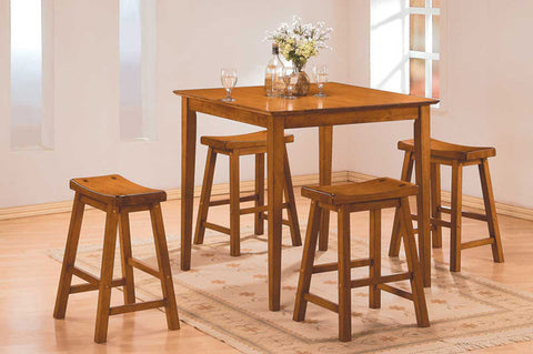 Homelegance 5302A Saddleback 5 Pc Dinette Set in Oak Finish - Peazz.com