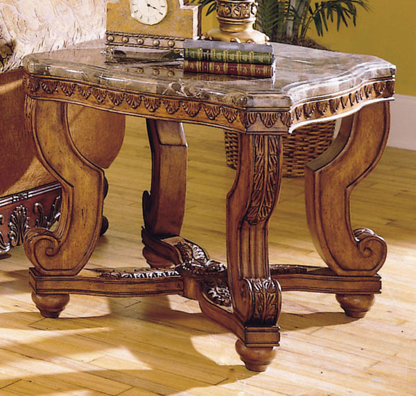 Homelegance 5543 04 Tarantula End Table Marble Top