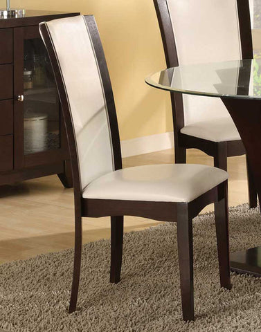 Homelegance 710WS Daisy Side Chair in White Bi-cast Vinyl - Homelegance - Set of 2 - Peazz.com