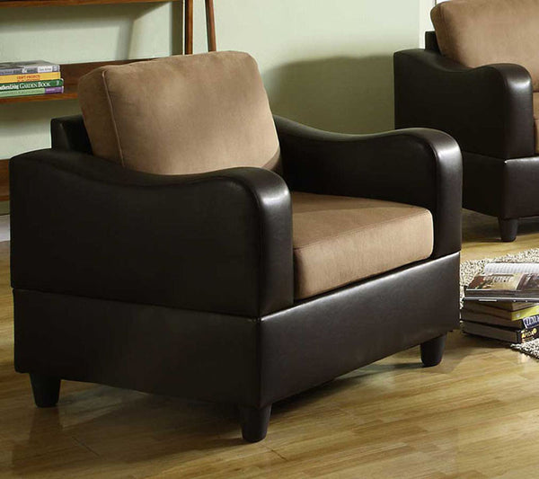 Homelegance 9904 1 Anthony Chair Brown Microfiber And Bi Cast Home