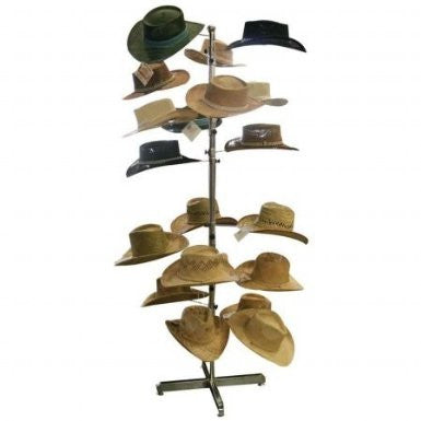 B&F System GFHATDSP Casual Outfitters Floor Display Hat Rack - Peazz.com