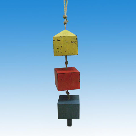 "Wooden 3 Square Buoys on a Rope 24"" - Peazz.com"