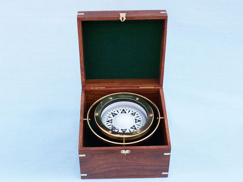 "Brass Gimble Compass 9"" - Peazz.com"