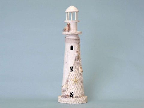 "Pelican Wooden Lighthouse 21"" - Peazz.com"