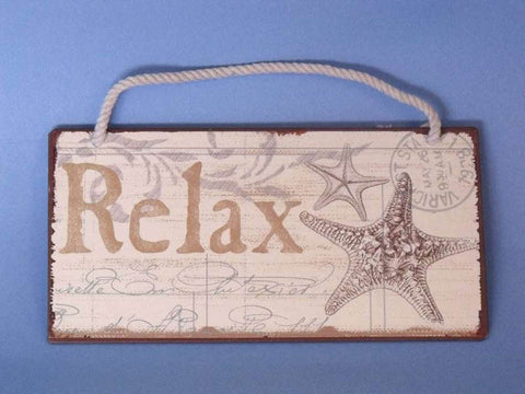 "Tin Relax Sign 8"" - Peazz.com"