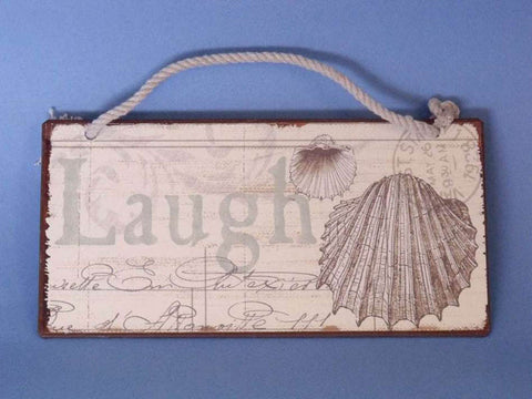 "Tin Laugh Sign 8"" - Peazz.com"