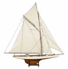 1901 America's Cup Columbia Medium Sail Model Boat AS076F