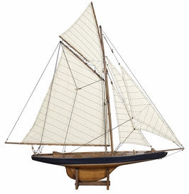 "AS108F America's Cup Columbia 1901  Small  French Finish 5.1"""" with Basswood & Cotton Material  in Black/ Honey Distressed French"" 767907"
