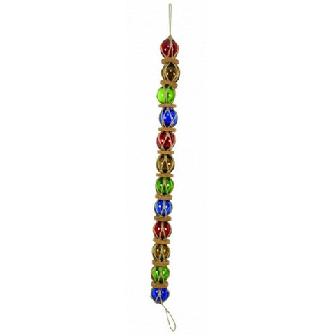 "Handcrafted Model Ships MD-724 Multi-color Glass And Rope Buoy Chain 37"" - Peazz.com"