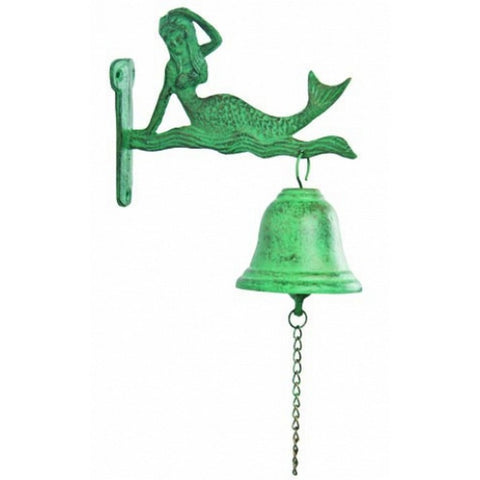 "Handcrafted Model Ships MD-865 Seaworn Cast Iron Mermaid Bell 8"" - Peazz.com"