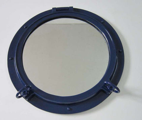 "Navy Blue Porthole Window 24"" - Peazz.com"
