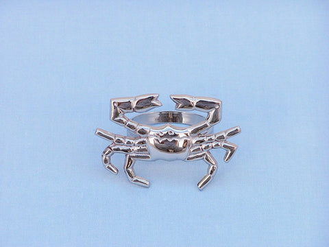 "Handcrafted Model Ships NR-12-N Chrome Crab Napkin Ring 3"" - Peazz.com"