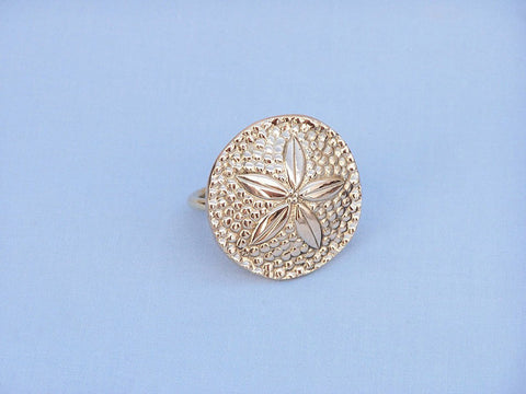 "Handcrafted Model Ships NR-30-BR Brass Sand Dollar Napkin Ring 2"" - Peazz.com"