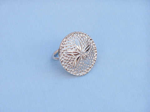 "Handcrafted Model Ships NR-30-N Chrome Sand Dollar Napkin Ring 2"" - Peazz.com"