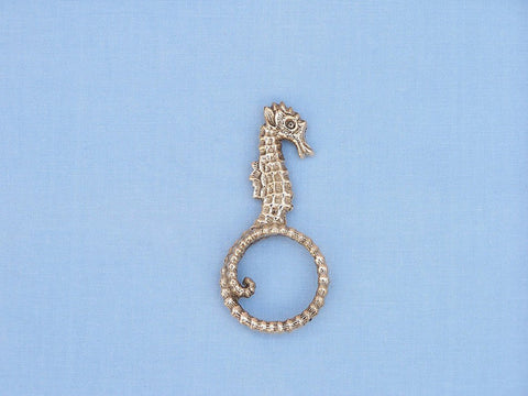 "Handcrafted Model Ships NR-32-BR Brass Seahorse Napkin Ring 4"" - Peazz.com"
