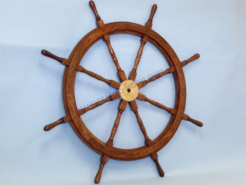 "Wooden Ship Wheel 30"" - Peazz.com"