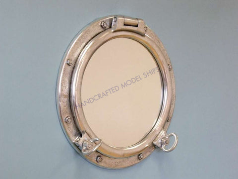 "Silver Porthole Window 24"" - Peazz.com"