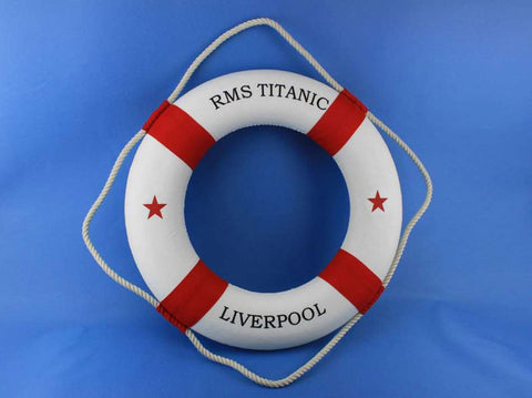 "RMS Titanic Lifering 20"" - Red - Peazz.com"
