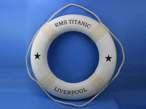 "RMS Titanic Lifering 30"" - White - Peazz.com"