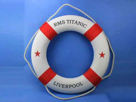 "RMS Titanic Lifering 30"" - Red - Peazz.com"