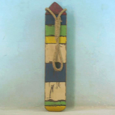 "Wooden Thin Multi-Color Buoy 25"" - Peazz.com"